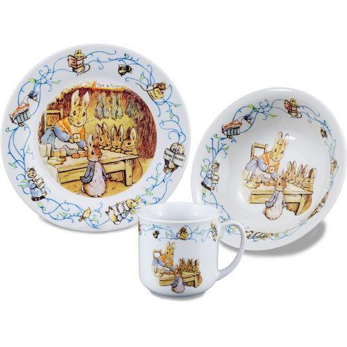 Reutter Porcelain Beatrix Potter Breakfast Set Plate Mug Bowl
