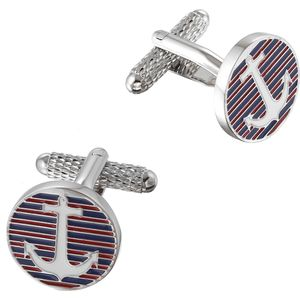 Anchor Blue & Red Cufflinks