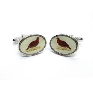 Grouse Oval Cufflinks
