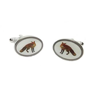 Fox Oval Cufflinks