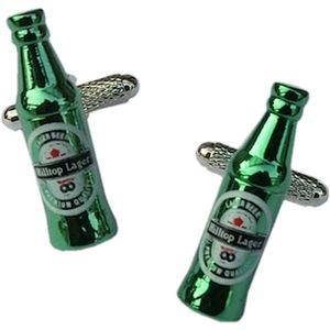 Green Lager Bottle Cufflinks