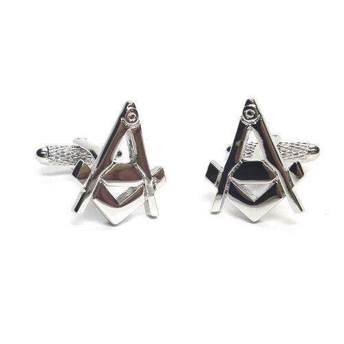 Masonic Square & Compass Cufflinks Onyx Art of London