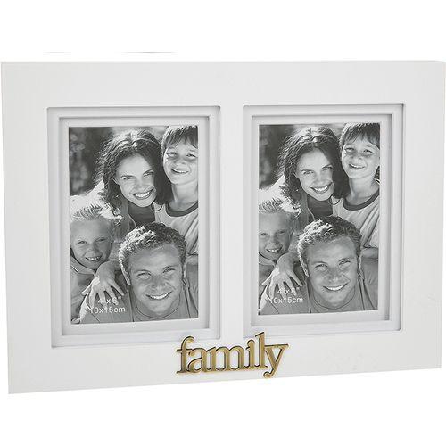 Gallery White Double Photo Frame - Family