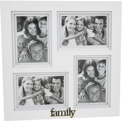 Gallery White Multi Photo Frame - Family