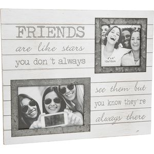 "Double Photo Frame ""Friends"" (with verse)"