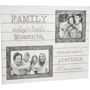 "Double Photo Frame ""Family"" (with verse)"