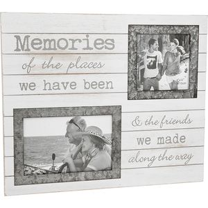 "Double Photo Frame ""Memories"" (with verse)"