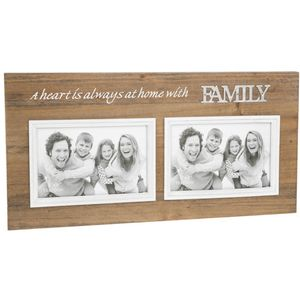Double Photo Frame with Sentiment - Family