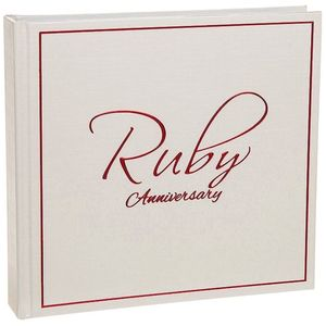 Signature Photo Album - Ruby Anniversary