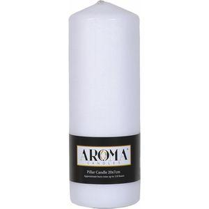 Aroma Pillar Candle 20cm x 7cm (White)