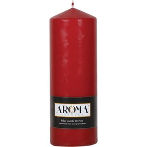 Aroma Pillar Candle 20cm x 7cm - Red