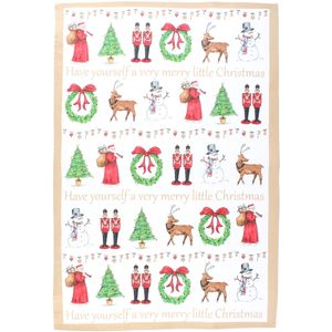 Christmas Tableware - Tea Towels Milly Green Merry Little Christmas Pack of 2
