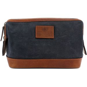 Waxed Canvas Wash Bag: The Navigator (Navy)