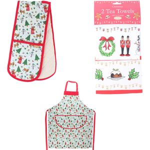 Milly Green Festive Kitchen Accessory Set - Merry Little Christmas