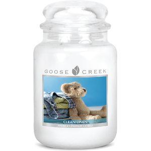 Goose Creek 24oz Large Jar Candle Clean Linen