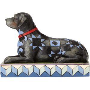 Heartwood Creek Canine Creations Figurine - Onyx Black Labrador Dog