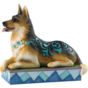 "Heartwood Creek ""Kaiser"" German Shepherd Dog Figurine"