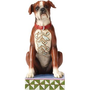 "Heartwood Creek ""Bruno"" Boxer Dog Figurine"