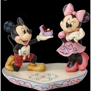 Disney Traditions A Magical Moment (Mickey Proposing to Minnie) Figurine