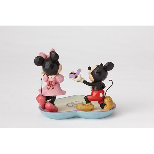 Disney Traditions Mickey Mouse Proposing to Minnie Figurine