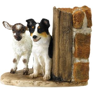 Kitchy & Co Molly & Meg Lamb & Sheep Dog Figurine