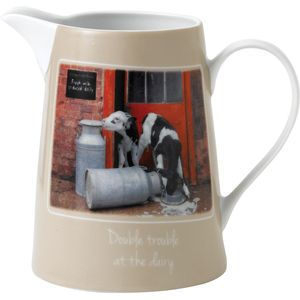 Border Fine Arts Studio Collection Kitchy & Co Jug - Double Trouble at the Dairy