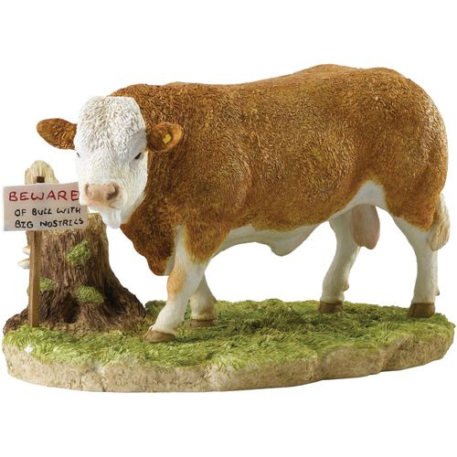 Border Fine Arts Studio Kitchy & Co Beware of the Bull Figurine Ref: A28643