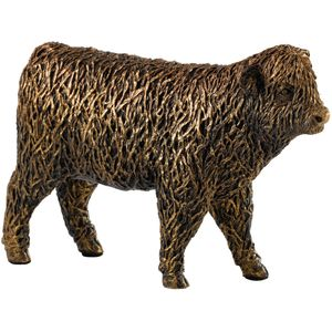 Border Fine Arts Studio bronze Highland Calf Figurine