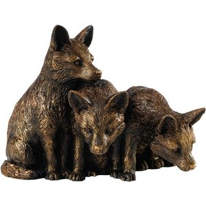 Border Studio Fox Cubs Bronze Figurine