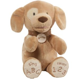 Gund Baby Animated Soft Toy - Spunky Dog Tan (ABC/123)
