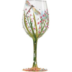 Lolita Hand Painted Wine Glass - Dragonfly