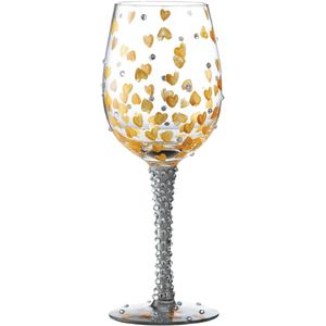 Lolita Heart of Gold Glass Wine Glass