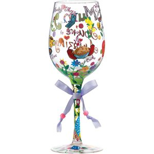 Lolita Mum Youre Amazing Wine Glass