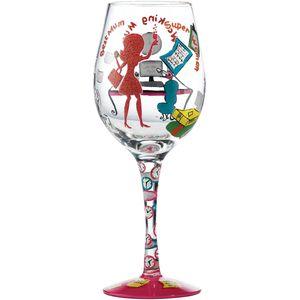 Lolita Working Mum Wine Glass