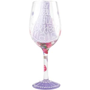 Lolita Hand Painted Wine Glass - My Beautiful Bridesmaid