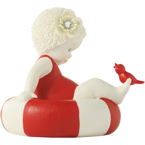 Beach Baby on a rubber swim ring Ornament