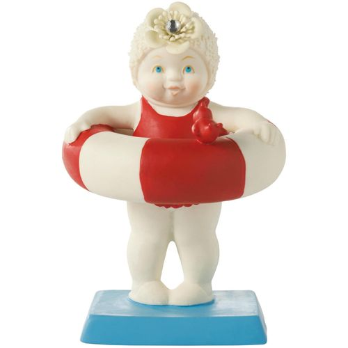 Snowbaby in rubber ring ready to jump in Ornament