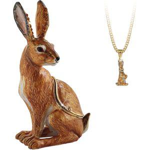 Hidden Treasures Secrets Hare Trinket Box