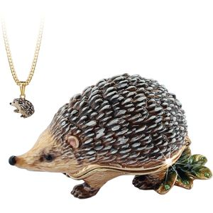 Hidden Treasures Secrets Hedgehog Trinket Box