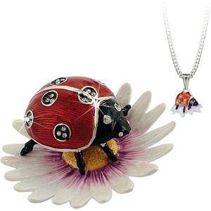 Hidden Treasures Secrets Ladybird Trinket Box
