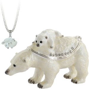 Secret Hidden Treasures - Polar Bear & Baby Trinket Box