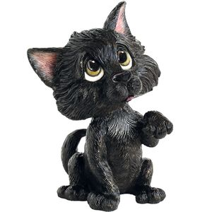 Little Paws Lucky Black Cat Figurine
