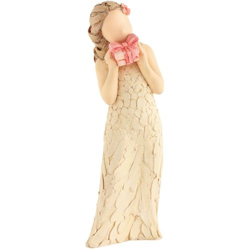 Arora Design Lady Figurine holding Gift Box More Than Words Figure