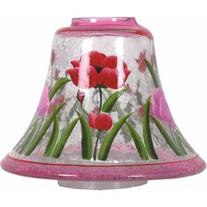 Aroma Jar Candle Lamp Shade: Hand Painted Tulips