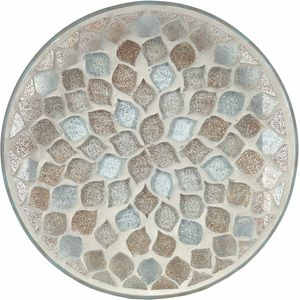 Aroma Candle Plate: Glitter Teardrop Mosaic