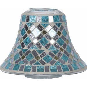 Aroma Jar Candle Lamp Shade: Blue Mirror