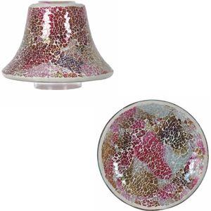 Aroma Jar Candle Shade & Plate Set - Raspberry Crush