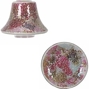 Aromatize Jar Candle Shade & Plate Set: Raspberry Crush