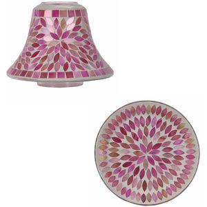 Aroma Jar Candle Shade & Plate Set: Pink Petals