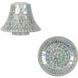 Aroma Jar Candle Shade & Plate Set: Aqua Pearl